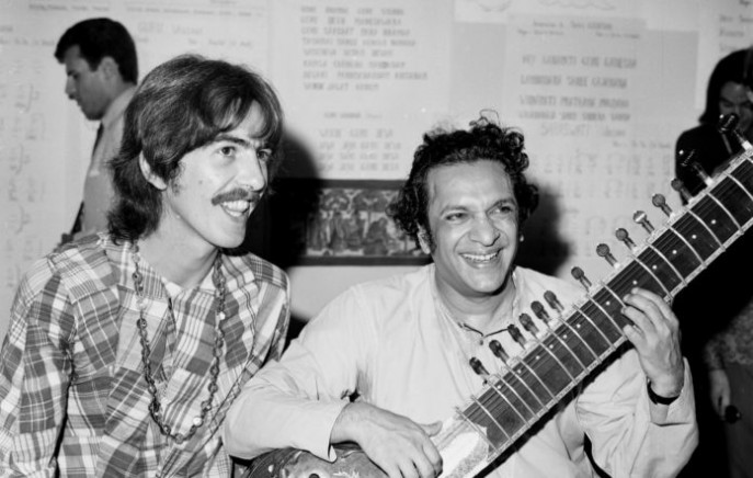 The original 1971 concert led by George Harrison and Ravi Shankar . Photo: Collected